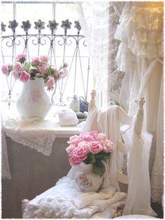 Shabby Chic French Powder Rooms @ iheartshabbychic.blogspot.com