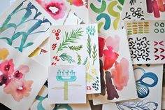 "We fell in love with Kelly Ventura's ""fresh florals, playful prints and organic hand-painted patterns"" when we first featured her in our Surtex preview back in"