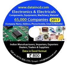 Dataincd.com provides All Types of Industrial and Companies Data in Excel, We have many types of catagories of Data as like, All India All Trade Data, Electronics and Electrical Data, Machinery Data, Plastic & PVC Data, Safety & Security Data, LED Lightings & Solar Data, UPS & Inverter Data, Delhi NCR Data, Auto & Automobiles Data etc. For More you can visit our website www.dataincd.com and call us on  9773-826-773.