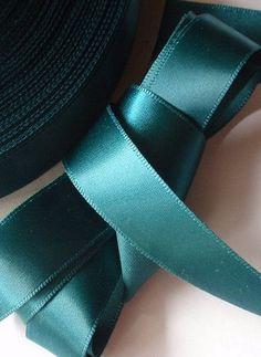 Teal | satin ribbon