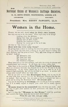 This leaflet was produced by the National Union of Women's Suffrage Societies (NUWSS) in July 1913. The NUWSS adopted a peaceful and non-confrontational approach. Members believed that success could be gained by argument and education. The organisation tried to raise its profile peacefully with posters, leaflets, calendars and public meetings.