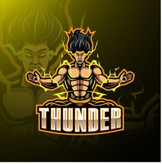 Zeus with bolt vector Ninja Assassin, Assassin Logo, Mobile Logo, Game Logo Design, Esports Logo, E Sport, Retro Logos, Light Art, Art Logo