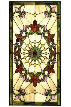 Solstice Large Rectangle Tiffany-Style Art Glass - Art Glass Windows - Home Decor | HomeDecorators.com