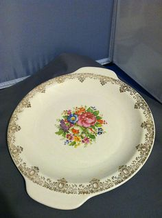 Salem China Century Embassy 23 Karat Gold oval Platter 2 serving bowls and dessert plates & Decorative Tin Plates | Gloucester Picnics and China