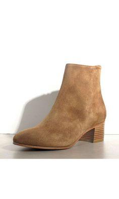Rivecour bottines 283 daim vison #rivecour #boots #bottines #daim #taupe #beige