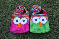 PDF Pattern for Kids Crochet Owl Bags with Strap by KraftyShack, $2.99