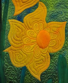 "Close-up, ""Spring's Greeting"" by Frieda Anderson, 2008 Denver National quilt show.  Photo by Deborah Atkinson - snowcatcher"