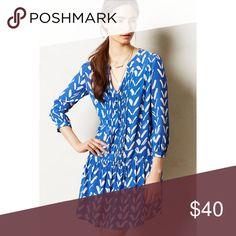 Maeve Tunic Dress Blue tunic dress, worn twice Anthropologie Dresses Mini