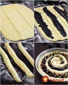 Prstohvat soli: Kolač sa šljivama i makom Albanian Recipes, Croatian Recipes, Sweet Pie, Sweet Bread, Cinnamon Stars Recipe, Croatian Cuisine, Cookie Recipes, Dessert Recipes, Bread Shaping