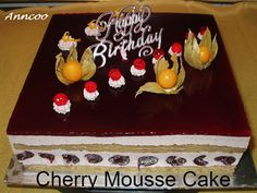 Cherry Mousse Cake | Anncoo Journal - Come for Quick and Easy Recipes