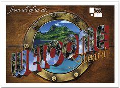 Welcome Aboard Logo Card D5077U-V
