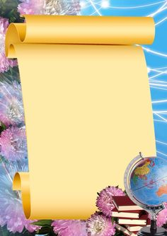 parchemins ,papiers,pergaminhos,rollos,scrolls Frame Border Design, Boarder Designs, Page Borders Design, Science Background, Kids Background, Studio Background Images, School Border, Recipe Drawing, Boarders And Frames