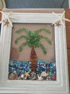 Sea Glass Crafts, Sea Glass Art, Resin Crafts, Glass Artwork, Resin Art, Fused Glass, Seashell Art, Seashell Crafts, Beach Crafts