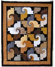 Made a smaller version into a wall hanging for my Buka :) excellent instructions and fabric measurements for each cat block. cat quilt