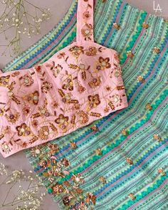 Printed lehenga with pastel blouse Lehenga, Aztec, Printed, Blouse, Bags, Fashion, Blouse Band, Handbags, Moda