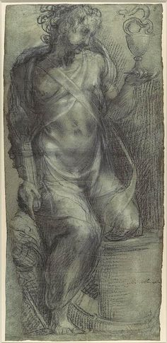 Francesco Salviati (Francesco de' Rossi): Saint John the Evangelist (recto), Saint Mark (verso) (2001.409) | Heilbrunn Timeline of Art History | The Metropolitan Museum of Art
