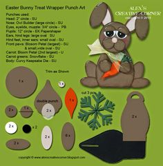 Alex's Creative Corner: Bunny Easter Favour - Curvy Keepsake - Instructions