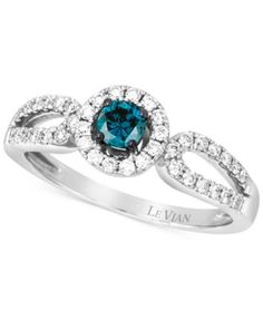 <3 <3 <3 Le Vian White and Blue Diamond Ring (1/2 ct. t.w.) in 14k White Gold