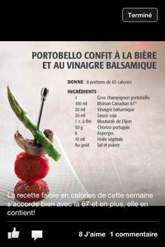 Portobello confit à la bière