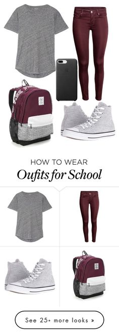 """School #9"" by dairygrunt02 on Polyvore featuring Madewell, Converse and Victoria's Secret"