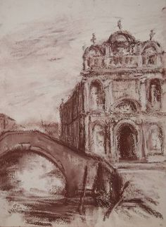 Original Cities Drawing by Ellen Fasthuber-huemer Italian Renaissance, Pastel Drawing, City Style, Buy Art, Paper Art, Saatchi Art, Original Art, Fine Art, Architecture