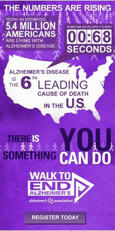 Walk to end Alzheimer's. September is National Alzheimer's Month
