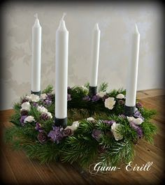 Gunn-Eirill`s Paper Magic: Advent wreath /DT Wild Orchid Crafts