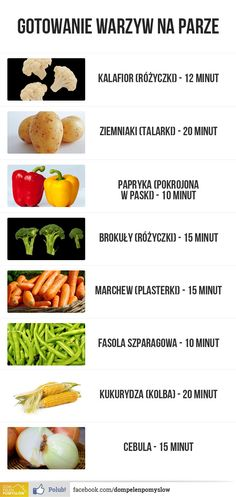 Jak długo gotować warzywa na parze Good Food, Yummy Food, Going Vegetarian, Food Hacks, I Foods, Healthy Lifestyle, Food Porn, Food And Drink, Healthy Eating