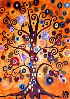 Tree of Life by Natasha Westcoast. (Whymsical Art)