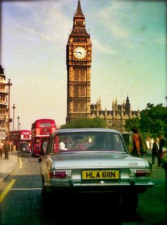 Big Ben through the windshield. Sep.1975.