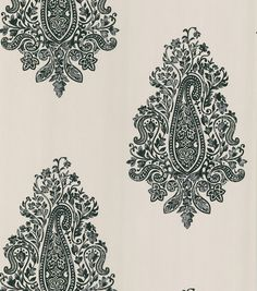 Mehndi White Paisley Wallpaper