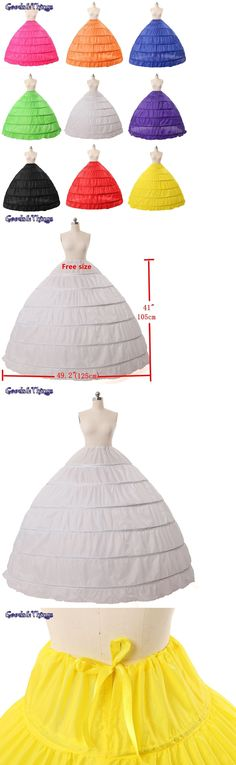 Slips Petticoats and Hoops 98745: New Missydress Full A-Line 6 Hoop Floor-Length Bridal Dress Gown Slip Petticoat -> BUY IT NOW ONLY: $66.43 on eBay!