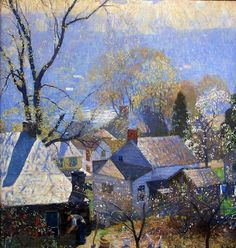 'Springtime in the Village', 1917 - Daniel Garber
