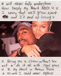 Tupac quotes - Tupac & Jada pinkett Smith i swear their bond was everything they definitely would have been together if he didn't get killed R I P Tupac And Jada, Mood Quotes, Life Quotes, Tupac Love Quotes, Lyric Quotes, Tupac Poems, Quotes Quotes, Qoutes, Photographie Indie
