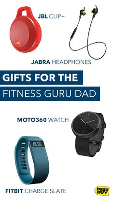 Just because he's a Dad doesn't mean he's got a #DadBod. Help him reach his fitness goals the way he always helps you reach your goals in life with fitness tech gifts like the Fitbit Charge or Garmin Golf Watch.
