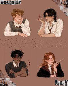 Arte Do Harry Potter, Harry Potter Artwork, Draco Harry Potter, Harry Potter Drawings, Harry Potter Pictures, James Potter, Harry Potter Universal, Harry Potter World, Harry Potter Characters
