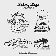 Find tips and tricks, amazing ideas for Bakery logo design. Discover and try out new things about Bakery logo design site Cake Logo Design, Bakery Design, Branding Design, Corporate Branding, Menu Design, Logo Branding, Brand Identity, Bakery Logo, Logo Restaurant