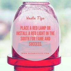 Home Design Drawing Vastu tips for home! Place a red lamp or install a red light in the South for fame and success!