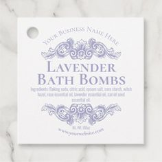 Homemade Spa Lavender Bath Bomb Favor Tags