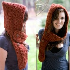 hooded scarf I LOVE THIS and now I'll have cold weather to wear it in.