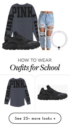 """too lazy for school 2"" by hipsterliam on Polyvore featuring Victoria's Secret, NIKE and Everest"