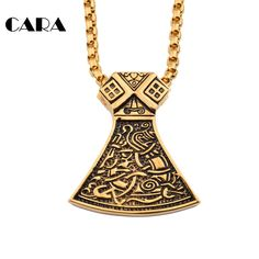 Free shipping Vintage New Ancient Chime Bell Necklace pendant 316 Stainless steel Men jewelry Fashion Hip Hop Necklaces CAGF0099 #Affiliate