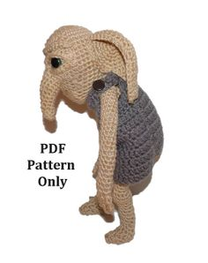 Kreaker the Ancient House Elf (Crochet Pattern ONLY) Harry Potter fans will love!