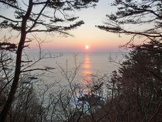 Sunrise at the easternmost of Honshu, Johdogahama, Miyako