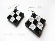 Quilled handmade cards - Szalonaisa's Wonderland: earrings