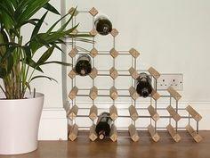 27 Bottle Wood and metal understairs wine rack:Amazon:Kitchen & Home