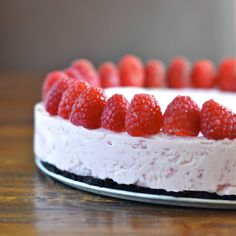 This frozen raspberry cheesecake is easy to make and decadent.