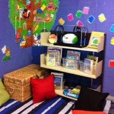 such a cute reading corner!
