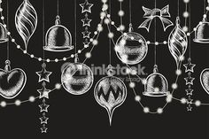 Vector Art : Christmas Chalkboard Ornament