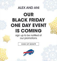 Buffalo Bills Black Friday Partner Offer for Alex and Ani